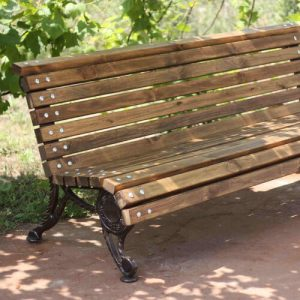 garden bench sideview wood