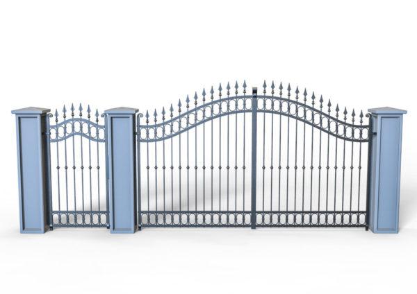 Smeedijzeren-poort-PR-001019005 vooraanzicht