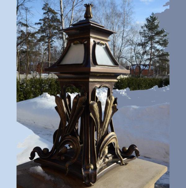 Buitenlamp staand in Art Nouveau stijl – NP201309647
