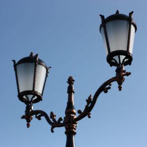 """Lamppost, street lamp """"Giant""""; 2 lanterns H410"""