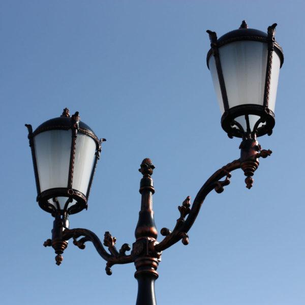 """Lantaarnpaal, straatlantaarn """"Giant""""; 2 lantaarns H410"""