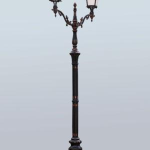 """Lamppost, street lamp """"Giant""""; 2 or 3 lanterns H530"""