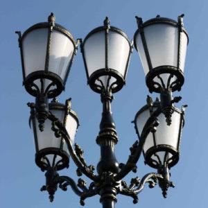 """Lamppost, street lamp """"Giant""""; 5 lanterns H570"""