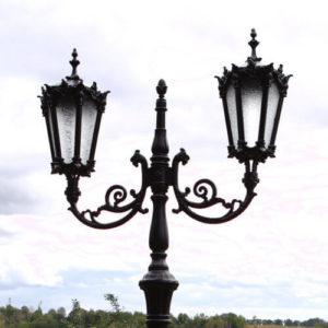 "Lamppost, street lamp ""Orchid""; 2 lanterns H363"