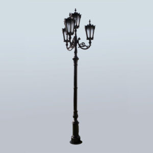 "Lamppost, street lamp ""Orchid""; 4 lanterns H438"