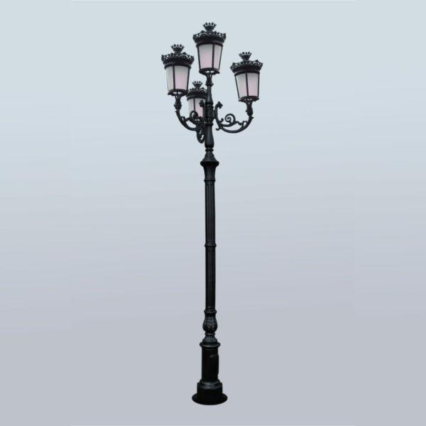 """Lamppost, street lamp """"Paris-Royal""""; 4 lanterns H426"""