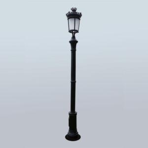 Lantaarnpaal-straatlantaarn -Parijse-Royal-met-1-lantaarn H3m05