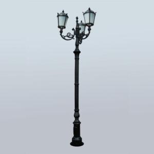 """Lamppost, street lamp """"Tulip""""; 3 - 5 lanterns H413"""