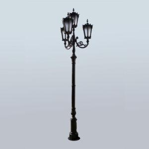 """Lantaarnpaal, straatlantaarn """"Tulip""""; 4 lantaarns H410"""