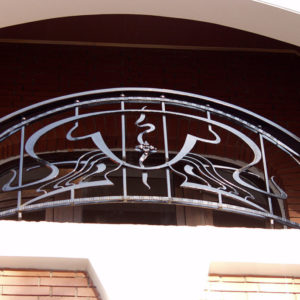 Wrought iron balcony railing (BR-0020180017)