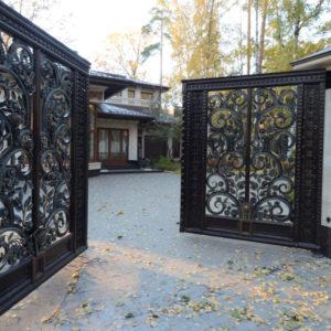 "Wrought iron entrance gate ""ART DECO"""