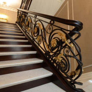 """Wrought iron banister and balustrade """"ClassicWood"""""""