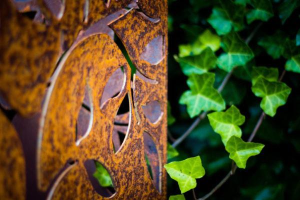 Staande tuinlamp Corten detail