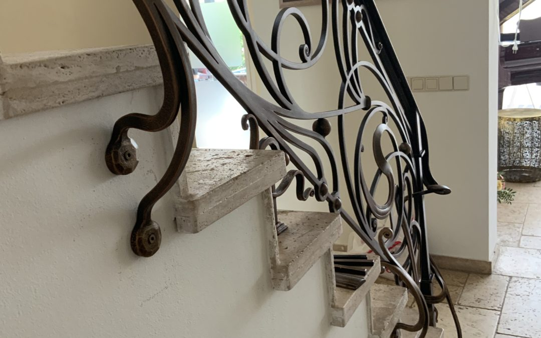 Wrought iron railing 'Art Nouveau'