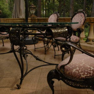 Garden table with chairs Baroque
