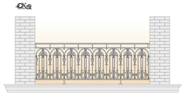 Balcony fence 'Curcubita'