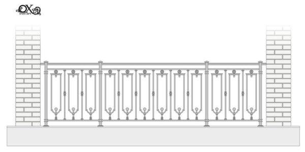 French Balcony Fence 'Flute'