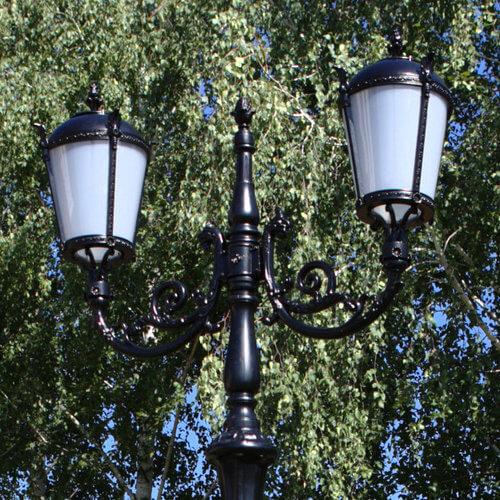 lantaarnpaal straatlantaarn tulip 2 lantaarns h342 detail