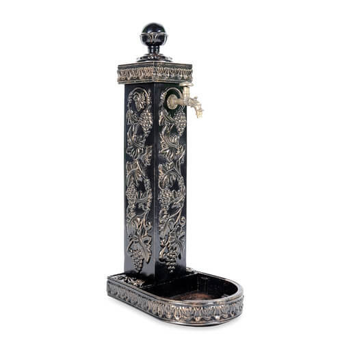 """Water column water column """"Grape"""" with tap and decorative drip tray"""