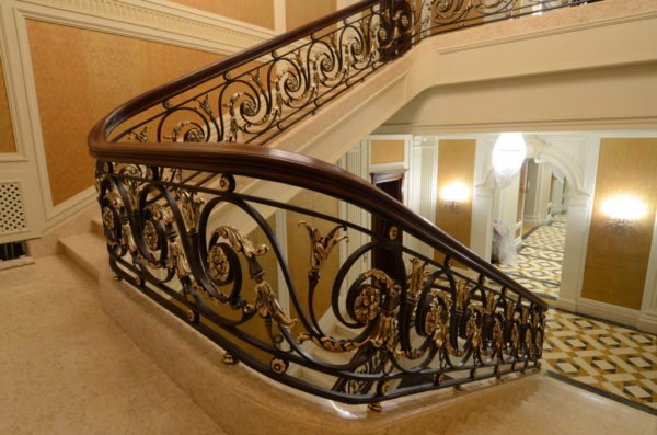 """Wrought iron banister and balustrade """"ClassicWood"""" atmosphere"""