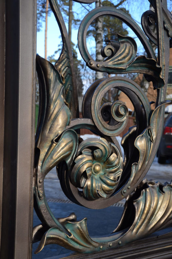 Wrought iron entrance gate 'Russian Style'