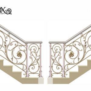 Wrought iron railing 'Steady'