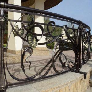 Wrought iron terrace fence 'Art Nouveau'
